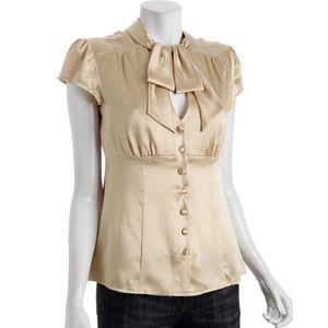Nanette Lepore silk cap sleeve top, cream SZ 2 EUC